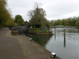 Caversham Lock marks the start of the journey out of Reading.