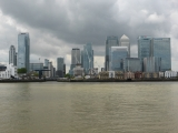 Viewing the Isle of Dogs from the other side on returning to the river.