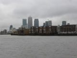 The skyscrapers of the Isle of Dogs were now coming into view.