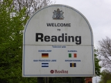 Officially entering Reading, the largest town on the river outside of London.