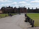 A brief stop to take some pictures of Hampton Court Palace.