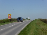 The busy A361 road heading towards Lechlade.