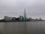 The top of the Shard was almost shrouded in mist.