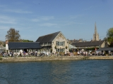 The Riverside pub at Lechlade was absolutely packed.