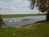 Rowers in training near Oxford.
