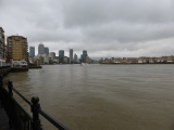 Heading around towards the Isle of Dogs.